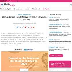 Les tendances Social Media 2020 selon Talkwalker et Hubspot