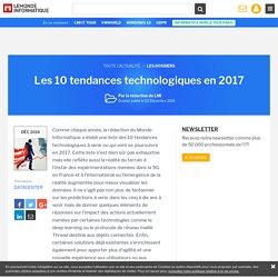 Dossier : Les 10 tendances technologiques en 2017