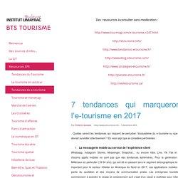 Tendances du e-tourisme - BTS Tourisme Limayrac Toulouse Agnès ROBIRA