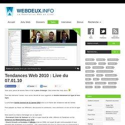 Tendances Web 2010 : Live du 07.01.10 «Révolution Web 2.0 en Liv