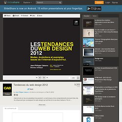 Tendances du web design 2012
