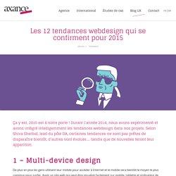 Les 12 tendances webdesign qui se confirment pour 2015