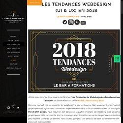 Les tendances Webdesign (Ui & Ux) en 2018