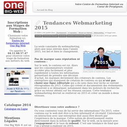 Tendances Webmarketing 2015