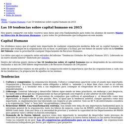 Las 10 tendencias sobre capital humano en 2015 - Recursos Humanos Hoy