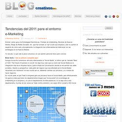 Tendencias del 2011 para el entorno e-Marketing