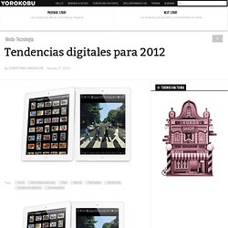 Tendencias digitales para 2012