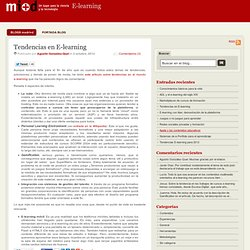 Tendencias en E-learning
