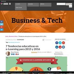 Tendencias educativas en e-Learning para 2015 y 2016