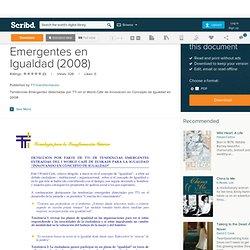 2.Tendencias Emergentes en Igualdad (2008)