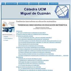 Tendencias innovadoras en educación matemática
