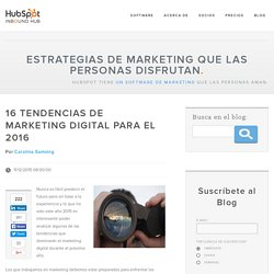16 tendencias de marketing digital para el 2016