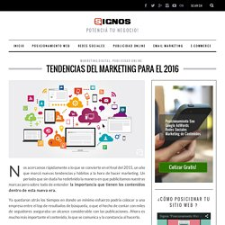 Tendencias del marketing para el 2016