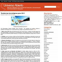 Tendencias tecnológicas para 2011