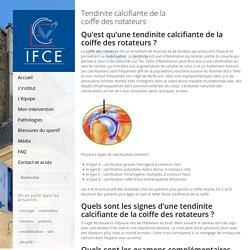Tendinite calcifiante de la coiffe des rotateurs - Institut Français de Chirurgie de la Main