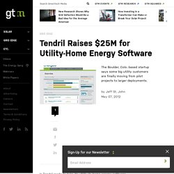 Tendril Raises $25M for Utility-Home Energy Software
