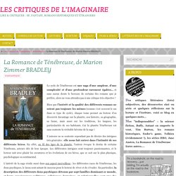 La Romance de Ténébreuse, de Marion Zimmer BRADLEY - Les Critiques de l'Imaginaire