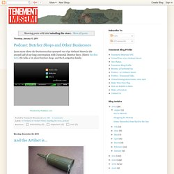 Tenement Museum Blog: minding the store