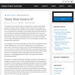 Tenet: How Good is it? – Directory Nation