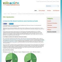 VEILLE ACTION 02/05/16 La teneur en sel des aliments transformés, encore trop élevée au Canada