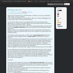 s Blog - ACTA pour les nuls