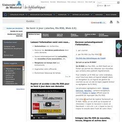 Services d'alertes dans les bases de données, Apprendre à utilis
