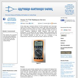 MasteringElectronicsDesign.com : Tenma 72-7745 Multimeter Review