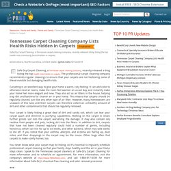 Tennessee Carpet Cleaning Company Lists Health Risks Hidden In Carpets