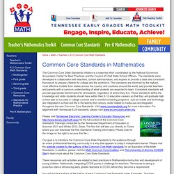 K-3 Common Core Math Standards