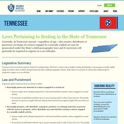 Sexting Laws Tennessee