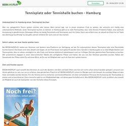 Tennishalle oder Tennisplatz buchen Hamburg