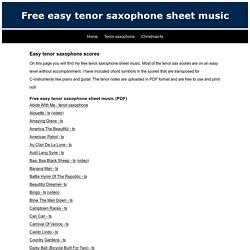 Free easy tenor saxophone sheet music