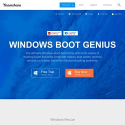 Tenorshare Windows Boot Genius - How to Create Windows Bootable Disk (CD/DVD/USB)