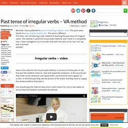 Past tense of irregular verbs - VA method