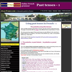 Use of past tenses in French - About-France.com