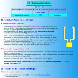 Tension électrique