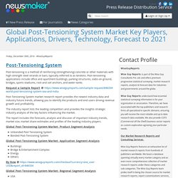 Global Post-Tensioning System Market Key Players, Applications, Drivers, Technology, Forecast to 2021