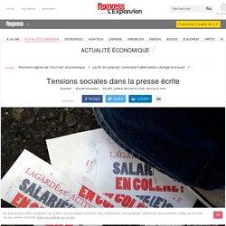 Tensions sociales dans la presse écrite