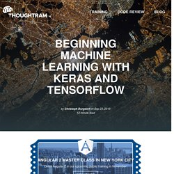 Beginning Machine Learning with Keras and TensorFlow by thoughtram