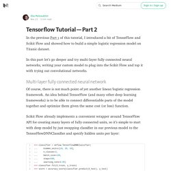 Tensorflow Tutorial — Part 2
