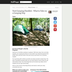 Tent Camping Checklist - What to Take on a Camping Trip