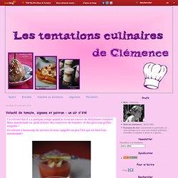 Velouté de tomate, oignons et poivron : un air d'été