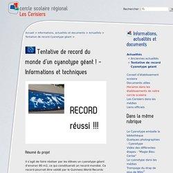 Tentative de record du monde d'un cyanotype géant ! - Informations et (...) - cercle scolaire régional Les Cerisiers