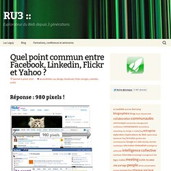 » Quel point commun entre Facebook, Linkedin, Flickr et Yahoo ?