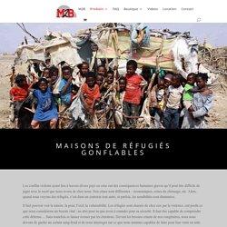 Tentes de réfugiés gonflables