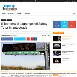 Il Teorema di Lagrange nel Safety Tutor in autostrada