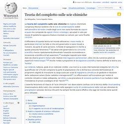 teoria del complotto scie chimiche wikipedia