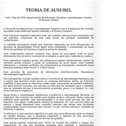 TEORIA DE AUSUBEL
