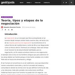 Teoría, tipos y etapas de la negociación