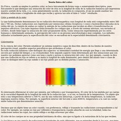 Teoría física del color